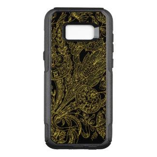 Capa OtterBox Commuter Para Samsung Galaxy S8+ Estilo inlayed ouro floral