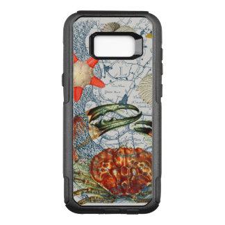 Capa OtterBox Commuter Para Samsung Galaxy S8+ estrela do mar crabby do mapa