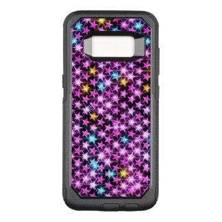 Capa OtterBox Commuter Para Samsung Galaxy S8 estrelas brilhantes roxas coloridas bonitas