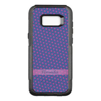 Capa OtterBox Commuter Para Samsung Galaxy S8+ Estrelas cor-de-rosa em um fundo azul