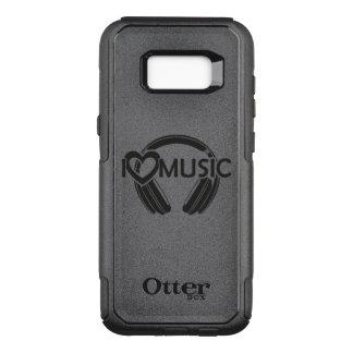 Capa OtterBox Commuter Para Samsung Galaxy S8+ Eu amo fones de ouvido da música