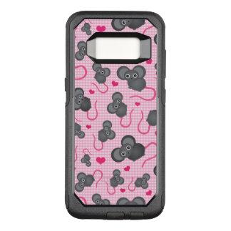 Capa OtterBox Commuter Para Samsung Galaxy S8 Eu amo meu teste padrão do rato no rosa