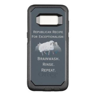 "Capa OtterBox Commuter Para Samsung Galaxy S8 ""Exceptionalism republicano"": Brainwash"