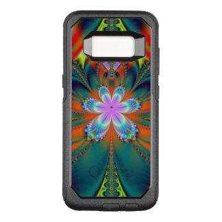 Capa OtterBox Commuter Para Samsung Galaxy S8 Explosão do hibiscus