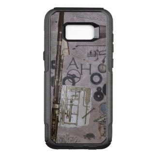Capa OtterBox Commuter Para Samsung Galaxy S8+ Fantasia de Steampunk do fagote com iniciais