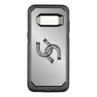 Capa OtterBox Commuter Para Samsung Galaxy S8 Ferraduras na prata