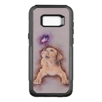 Capa OtterBox Commuter Para Samsung Galaxy S8+ Filhote de cachorro do terrier de Staffordshire