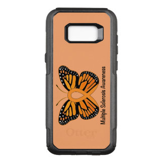 Capa OtterBox Commuter Para Samsung Galaxy S8+ Fita da consciência da borboleta da esclerose