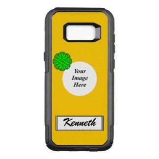 Capa OtterBox Commuter Para Samsung Galaxy S8+ Fita Tmpl da flor do verde limão por Kenneth