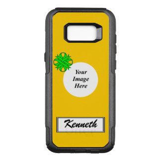 Capa OtterBox Commuter Para Samsung Galaxy S8+ Fita Tmpl do trevo do verde limão por Kenneth