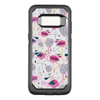 Capa OtterBox Commuter Para Samsung Galaxy S8 Flamingos bonitos & teste padrão de flores