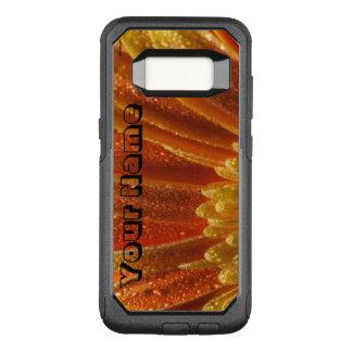 Capa OtterBox Commuter Para Samsung Galaxy S8 Flor alaranjada com pétalas coloridas
