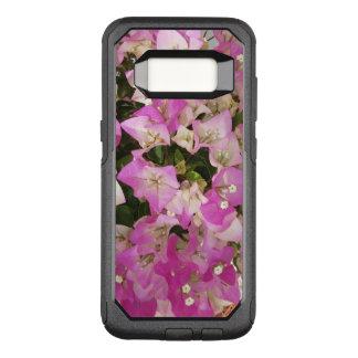 Capa OtterBox Commuter Para Samsung Galaxy S8 Flor branca cor-de-rosa do Bougainvillea