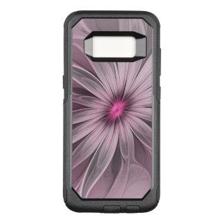 Capa OtterBox Commuter Para Samsung Galaxy S8 Flor cor-de-rosa que espera uma arte do Fractal do