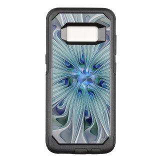 Capa OtterBox Commuter Para Samsung Galaxy S8 Flor Pastel azul moderna do abstrato floral da