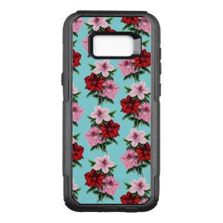 Capa OtterBox Commuter Para Samsung Galaxy S8+ flores rosas vermelha na luz da cerceta