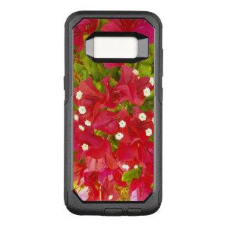 Capa OtterBox Commuter Para Samsung Galaxy S8 Flores vermelhas do Bougainvillea