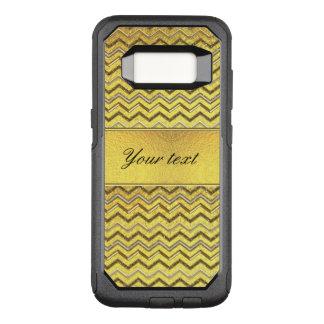 Capa OtterBox Commuter Para Samsung Galaxy S8 Folha de ouro metálica das vigas do brilho do