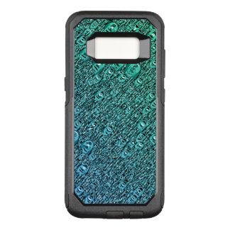 Capa OtterBox Commuter Para Samsung Galaxy S8 Formas azuis e verdes abstratas