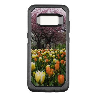 Capa OtterBox Commuter Para Samsung Galaxy S8 Foto das árvores da flor do parque do primavera