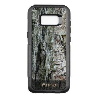 Capa OtterBox Commuter Para Samsung Galaxy S8+ Foto velha de madeira do latido do pinho da