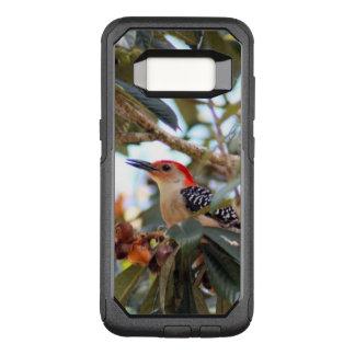 Capa OtterBox Commuter Para Samsung Galaxy S8 Foto Vermelho-Inchada do pica-pau