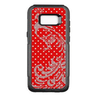 Capa OtterBox Commuter Para Samsung Galaxy S8+ Francês-Vermelho-Pavão-Polca-ponto-APPLE-SAMSUNG