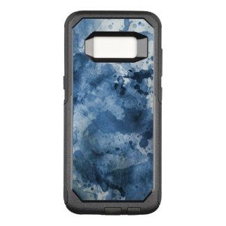 Capa OtterBox Commuter Para Samsung Galaxy S8 Fundo azul abstrato da aguarela