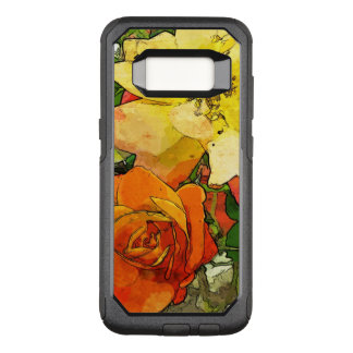 Capa OtterBox Commuter Para Samsung Galaxy S8 fundo colorido 2 do vintage floral da arte