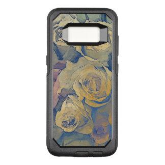 Capa OtterBox Commuter Para Samsung Galaxy S8 fundo colorido do vintage floral da arte