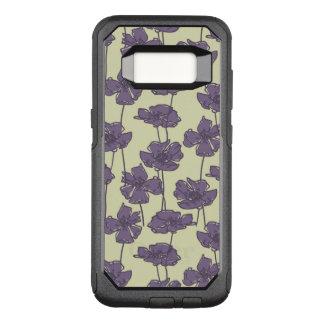 Capa OtterBox Commuter Para Samsung Galaxy S8 Fundo floral do teste padrão do vintage da arte