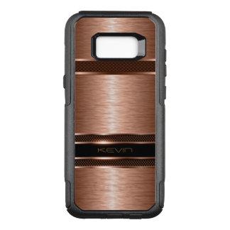 Capa OtterBox Commuter Para Samsung Galaxy S8+ Fundo geométrico de cobre metálico