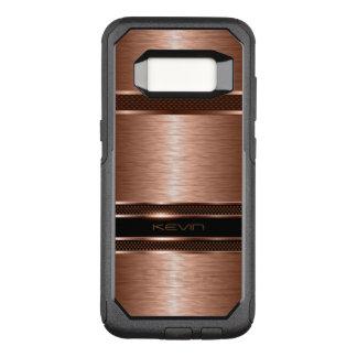 Capa OtterBox Commuter Para Samsung Galaxy S8 Fundo geométrico de cobre metálico moderno