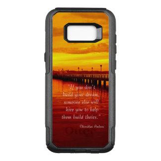 Capa OtterBox Commuter Para Samsung Galaxy S8+ Fundo ideal do por do sol das citações da
