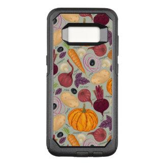 Capa OtterBox Commuter Para Samsung Galaxy S8 Fundo retro dos legumes frescos