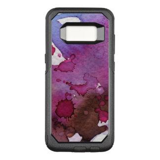 Capa OtterBox Commuter Para Samsung Galaxy S8 Fundo roxo da aguarela