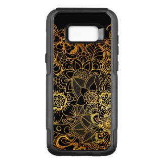 Capa OtterBox Commuter Para Samsung Galaxy S8+ Galáxia S8+ Ouro floral G523 do Doodle do exemplo