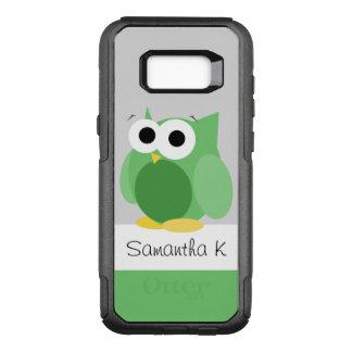 Capa OtterBox Commuter Para Samsung Galaxy S8+ Galáxia verde engraçada S8 de Samsung da coruja