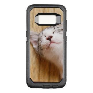 Capa OtterBox Commuter Para Samsung Galaxy S8 Gatinho do sono na esteira de Tatami