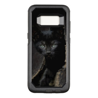Capa OtterBox Commuter Para Samsung Galaxy S8 Gatinho preto pequeno