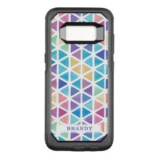 Capa OtterBox Commuter Para Samsung Galaxy S8 Geométrico abstrato da aguarela (tons do recife de