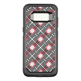Capa OtterBox Commuter Para Samsung Galaxy S8 Geométrico vermelho & branco preto