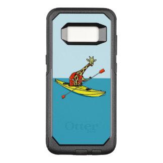 Capa OtterBox Commuter Para Samsung Galaxy S8 Girafa engraçado que kayaking