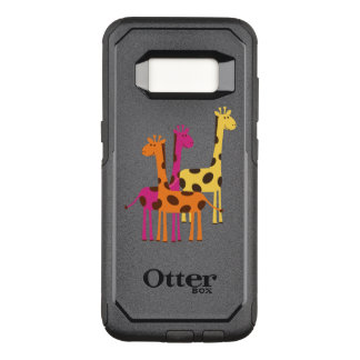 Capa OtterBox Commuter Para Samsung Galaxy S8 Girafas amarelos, cor-de-rosa e alaranjados