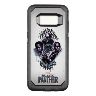 Capa OtterBox Commuter Para Samsung Galaxy S8 Grafites dos guerreiros da pantera preta |