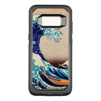 Capa OtterBox Commuter Para Samsung Galaxy S8 Grande onda fora da arte do japonês do vintage de
