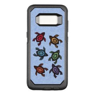 Capa OtterBox Commuter Para Samsung Galaxy S8 Grupo de escudos coloridos tartarugas do abstrato