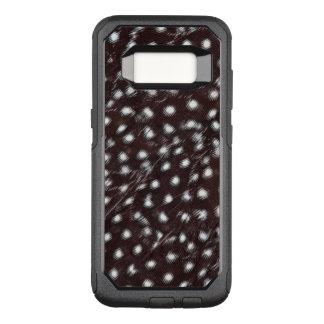 Capa OtterBox Commuter Para Samsung Galaxy S8 Guineafowl manchou o abstrato da pena