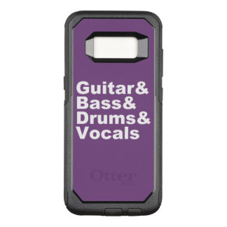 Capa OtterBox Commuter Para Samsung Galaxy S8 Guitar&Bass&Drums&Vocals (branco)