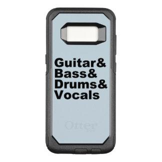 Capa OtterBox Commuter Para Samsung Galaxy S8 Guitar&Bass&Drums&Vocals (preto)